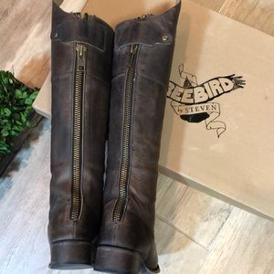 Freebird by Steven Leather Stable Boots in Box